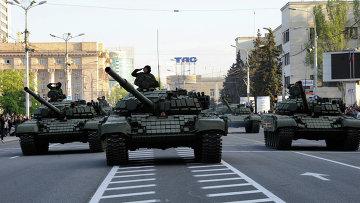 Репетиция парада Победы в Донецке. Архивное фото