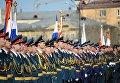 Военнослужащие во время военного парада в Чите, посвящённого 72-й годовщине Победы в Великой Отечественной войне 1941-1945 годов